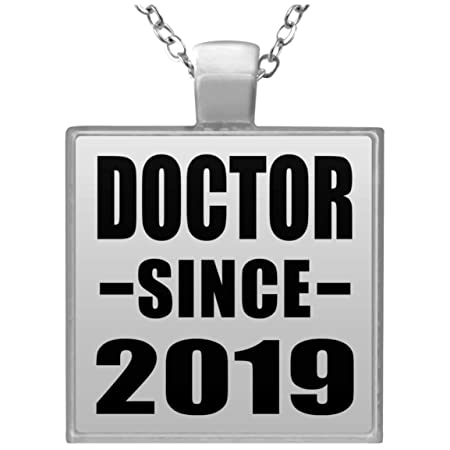 Doctor Since 2019 - Square Necklace Collar, Colgante, Bañado ...