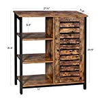 VASAGLE LOWELL Storage Cabinet, Cupboard, Multipurpose Cabinet, 3 Open Shelves and Closed Compartments, for Kitchen…