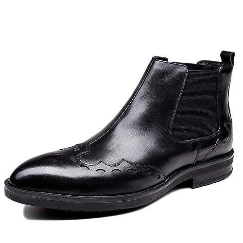 Hombres Botas De Cuero Botines Chelsea Otoño E Invierno Martin Botas De Gamuza Botines Trabajos Luchando Desierto Zapato De Nieve: Amazon.es: Zapatos y ...