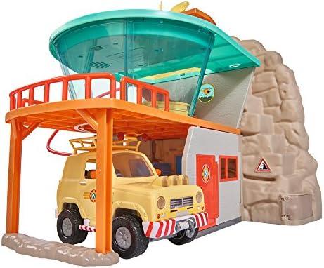 Simba 109251003 - Feuerwehrmann Sam Bergrettung mit Figur / Mit Gondelbahn / 1 Figur und viel Zubehör