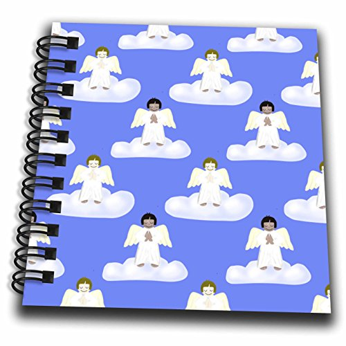 3dRose db_162051_3 Cute Little Praying Angels on Clouds Mini Notepad, 4