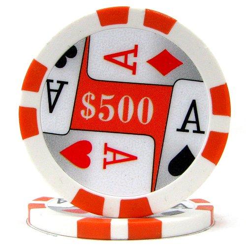 Trademark Poker Premium 4 Aces 100 Poker Chips (500-Piece), ()