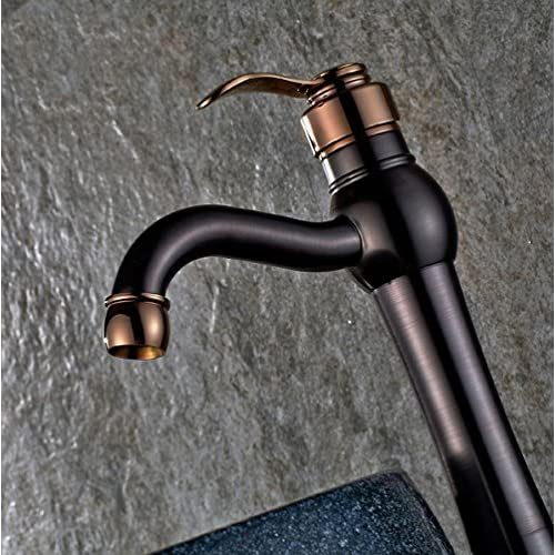 70%OFF HYY@ European black antique copper basin taps black bronze ORB hot and cold taps
