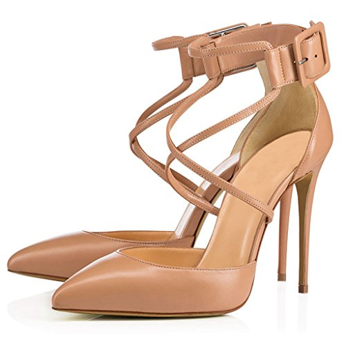 Mode LYY Kreuzband YY Stiletto cm Farbe Absatzhöhe Weiblichen Ferse 13 Schwarzen 11 Spitzen Nude Schuhe qqrzRw4x8