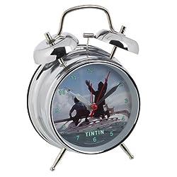 United Labels Alarm Clock Tintin (Silver - Tintin Snowy And Captain Haddock)