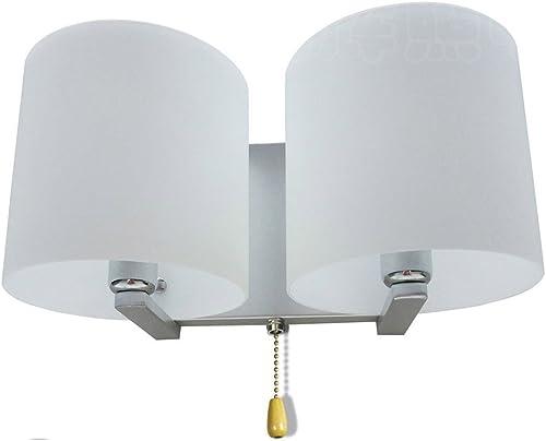 2 Heads Glass Bedroom Wall Lamp