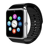 Beafup Bluetooth Smart Watch,SmartWatchTouch Screen Bluetooth WristWatch with SIM Card Slot and Camera for Android Phone, Samsung HTC Huawei Xiaomi, IOS (Partial Functions)