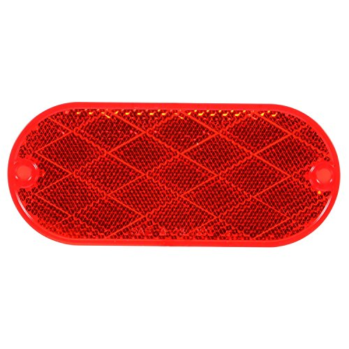 Truck-Lite 54 Reflector (Signal-Stat, Oval, Red, , 2 Screw Or Adhesive (Oval Red Car)