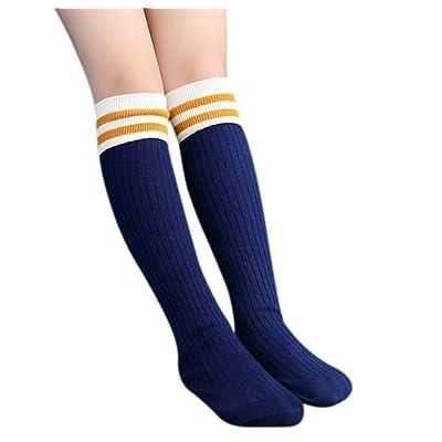 Girl Over Knee High Socks Cotton Warm Long Athletic Sport Uniform Soccer Socks