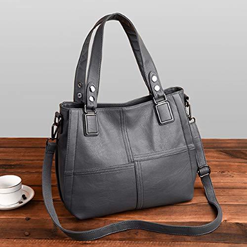 Bag Gray Convient À Couture À À Sortir Femme Shopping Messenger Main Sac Bandoulière Sac Faire du YJIUJIU Travail Aller Au HwvRPP