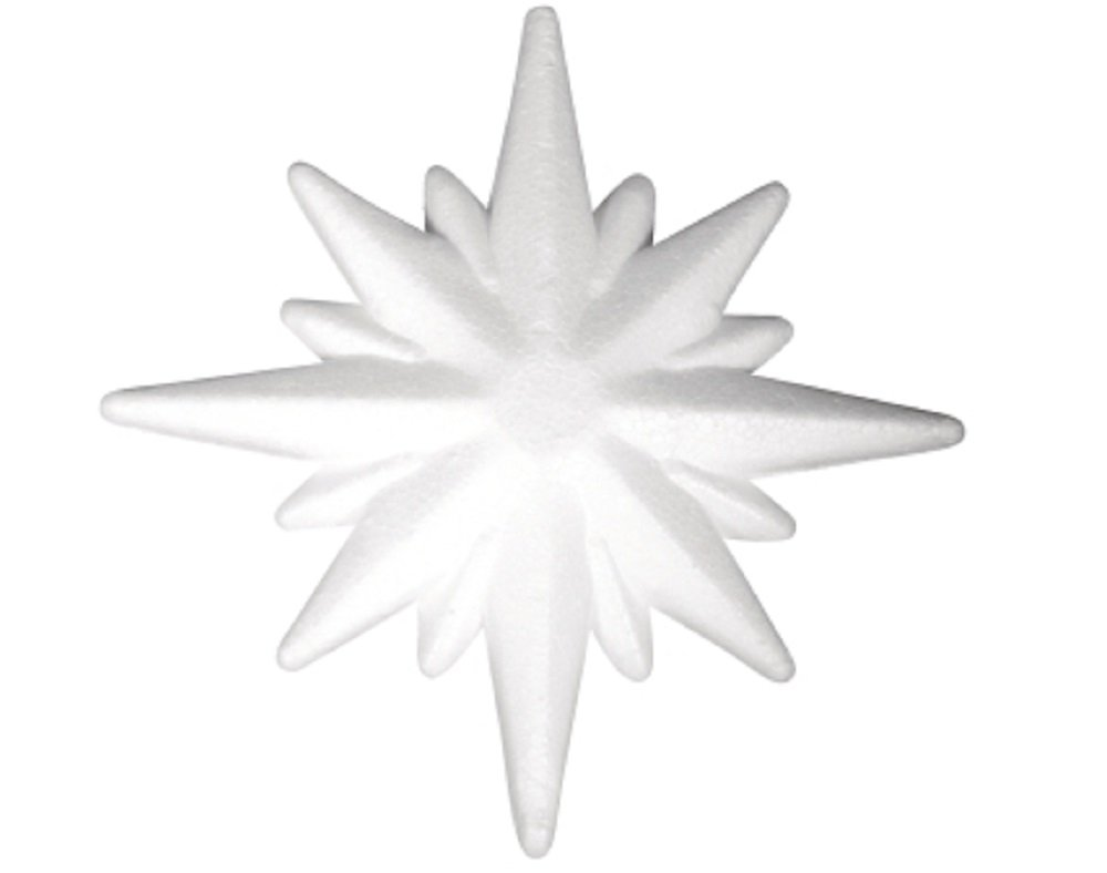 105mm Polystyrene Star Shape to Decorate | Styrofoam Shapes for Crafts Crafty Capers
