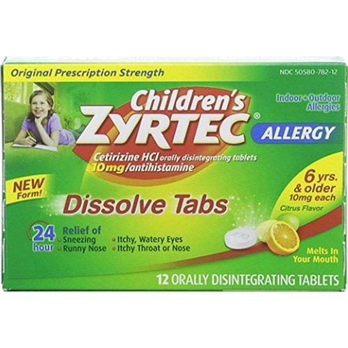 Children's Zyrtec Orally Disintegrating Tablets Allergy Citr