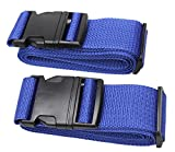 Luggage Strap Suitcase Belt Travel Accessories 2Pack #L18A (2Blue)