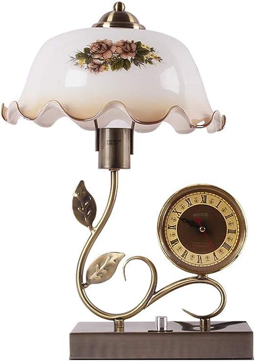 Lámpara de mesa decorativa vintage, reloj digital tradicional de ...