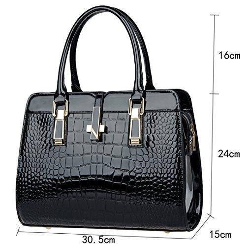 Large Handbags Women Body Bags Tote Black Bags Cross HAUTE Faux LA Fashion Shoulder Leather PFpUXn5W