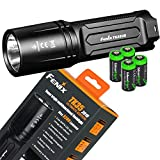 FENIX TK35 Ultimate Edition 2018 version (TK35UE) 3200 Lumen CREE XHP 70 LED Tactical Flashlight with 4 X EdisonBright CR123A Lithium batteries, Holster & Lanyard bundle