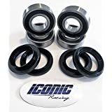 Yamaha Rhino 450 / 660 / 700 BOTH Rear Wheel Bearings and Seals Kits 2005-2013