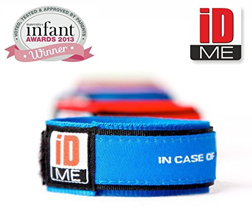 iDME Kids ID Safety Wristbands (Blue)