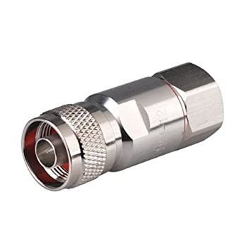 Generic 10 pcs N enchufe abrazadera conector macho coaxial RG8 RG213 RG214 Cable N Tipo Conector