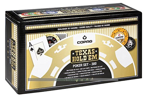 Copag Texas Hold'em Poker 300 Chips Set by Copag