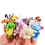 Twister.CK Finger Puppets Set (16pcs) Different Family and Animal Style Cartoon Finger Puppets ,Soft Velvet Dolls Props Toys for Toddlers Shows /Playtime/ Schools /Baby Story Time.