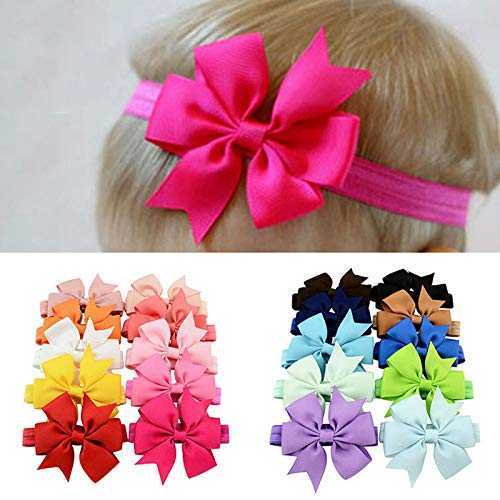 (40 Pcs/Lot) 3 Inch Grosgrain Ribbon Bows WITH Clip Pinwheel Hair Clips Hair Pins Accessories 564 Bow With Headband