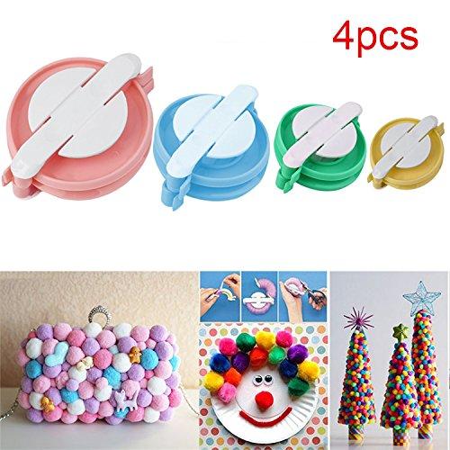 4 Size Pompom Maker Fluff Ball DIY Tool Weaver Needle Knitting bobble Craft