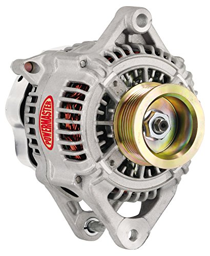(Powermaster Performance 433111 Natural Alternator (Denso Type 130mm 170A 7 Groove Pulley 1 Wire))