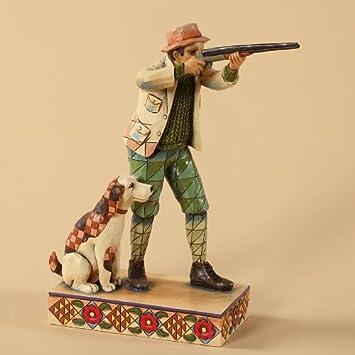 Jim Shore Heartwood Creek Hunter with Dog Figurine, 7-1 2-Inch