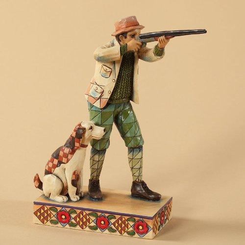 Jim Shore Heartwood Creek Hunter with Dog Figurine, (Hunting Dog Figurine)