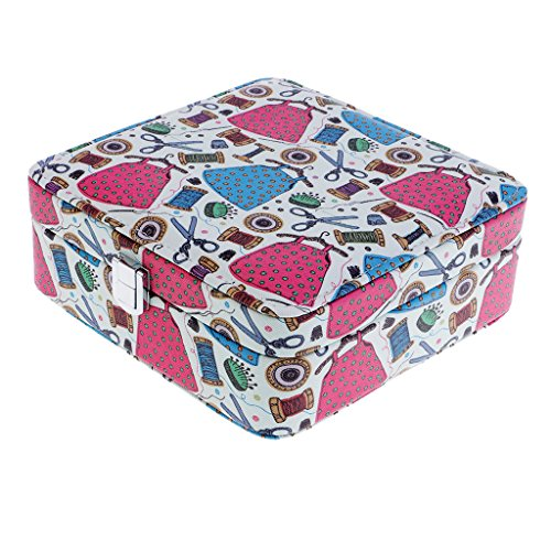 Homyl 18x18x7cm Home Sewing Thread Tool Storage Box Sewing Supplies Box Organizer - 1# by Homyl