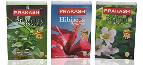 Prakash Hair Conditioner Powder Combo- 300gm-( Bhring Raj /Hibiscus /Brahmi )