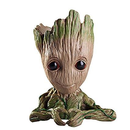 thematys® Baby Groot Maceta - Figura de acción para Plantas y bolígrafos de la película clásica - Perfecto como Regalo - Soy Groot (D)