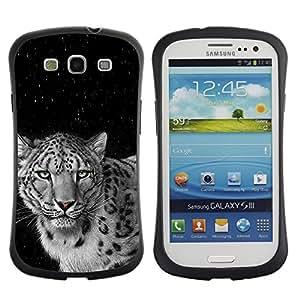 """Pulsar iFace Series Tpu silicona Carcasa Funda Case para SAMSUNG Galaxy S3 III / i9300 / i747 , Angry Spots Felino Leopardo Negro Blanco"""""""