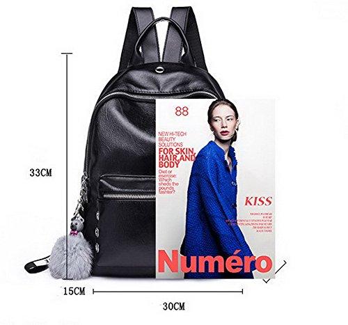 Pu Casual Chiusure Voguezone009 Formale A Nero Lampo Pantaloni Tracolla Borse Donne Rwx6Fa5Pxq