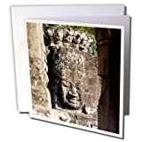 3dRose Danita Delimont - Travel - Asia, Cambodia, Angkor wat, Siem Reap, Faces of the Bayon Temple - 12 Greeting Cards with envelopes (gc_277083_2)