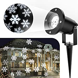 Centeni Moving Snowflakes Projector Light White Projection