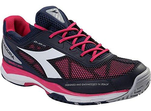 Diadora S Pro Evo Damen Tennisschuhe blau-pink Clay Gr. 41