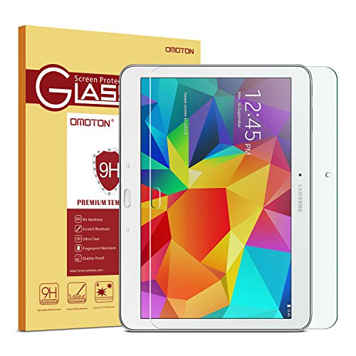 OMOTON Tempered Glass Screen Protector for Samsung Galaxy 4 10.1,Only fits The Tablet SM-T530 Version,1 Pack