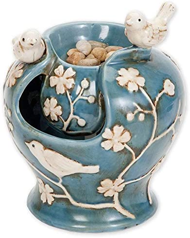 Bits and Pieces – Ceramic Birds Fountain – Zen Tabletop Water Fountain