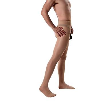 2d989b383fe ElsaYX Men s Sheer Crotchless Tights Pantyhose  Amazon.co.uk  Clothing
