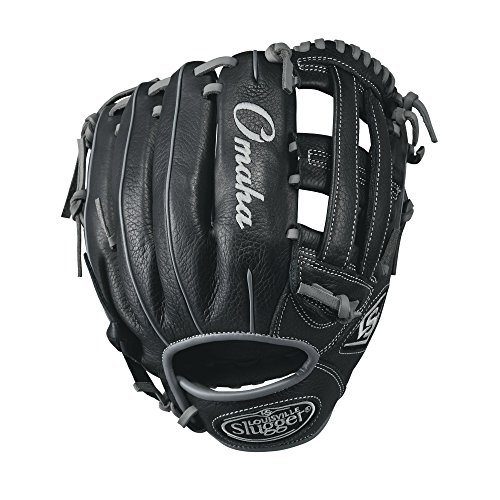 "Louisville Slugger Omaha 11.5"" Baseball Glove, Black/Gray"