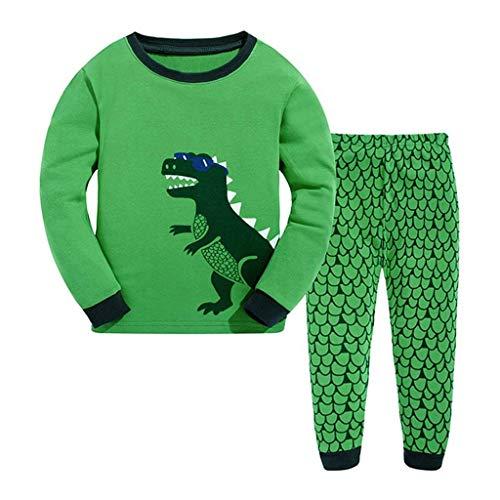 WensLTD 2PCS Children Kids Boys Girls Dinosaur Print Top Clothes+Long Pants Set Outfit (6-7 Years, -