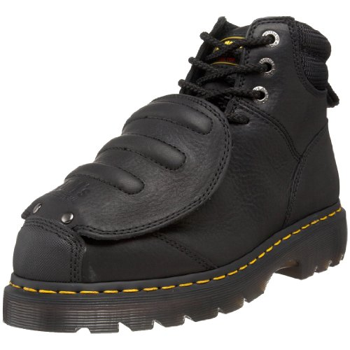 Dr. Martens Men's Ironbridge MG ST Steel-Toe Met Guard Boot,Black,9 UK/10 M US