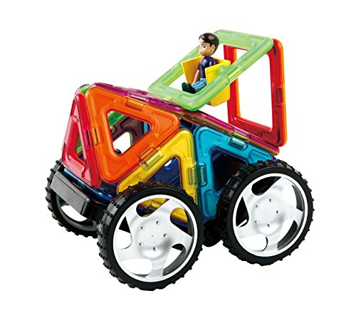 Magformers Vehicle Wow Set (16-pieces) Magnetic    Building      Blocks, Educational  Magnetic    Tiles Kit , Magnetic    Construction  STEM Toy Set includes wheels by Magformers (Image #2)
