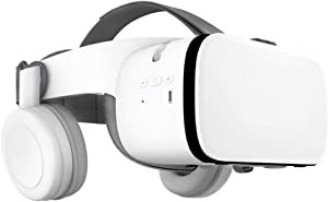 Peiloh VR Headset Compatible with 4.7-6.3 inch iPhone and Android, Virtual Reality Headset with Wireless Headphones 3D VR Glasses Goggles for IMAX Movies&VR Games , Soft & Comfortable