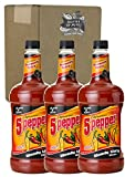Master of Mixes 5 Pepper Extra Spicy Bloody Mary Drink Mix, Ready To Use, 1.75 Liter Bottle (59.2 Fl Oz), Pack of 3