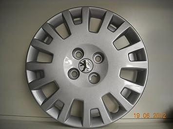 Juego de Tapacubos 4 Peugeot Bipper Diseño New Tapacubos 15 r () Logo Cromado: Amazon.es: Coche y moto