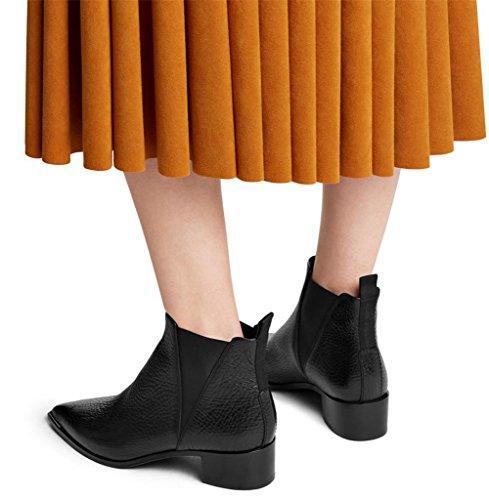 In Nvxie eur41uk758 Martin Punta Cuoio Donna Scarpe Eur Appartamenti 5 Genuino Boots Inverno Lavoro Pelle 1 8 42 uk Autunno Partito rrEqwR