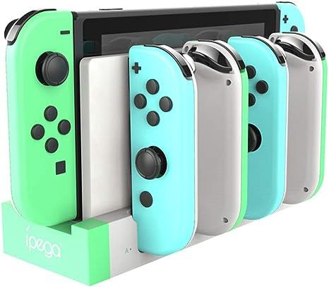 Base de carga para Joy Con Nintendo Switch 4 en 1 Pro Controller Estación de carga con interruptor de LED Indicador Soporte para Nintendo Switch Joy Con Pro Controller: Amazon.es: Videojuegos